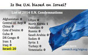 UN condemnations 2014