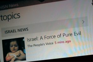 [UPDATED] Why does MSN News spread anti-Semitic propaganda?
