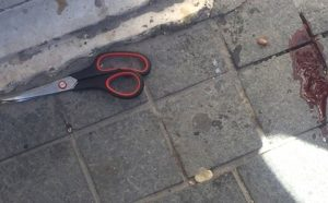 Scissors used in stabbing attack in Jerusalem
