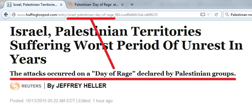 13Oct -- 1st story ISRAEL PALESTINIAN UNREST storypage - callout