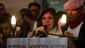 Mourners at Hadar Buchris funeral 2