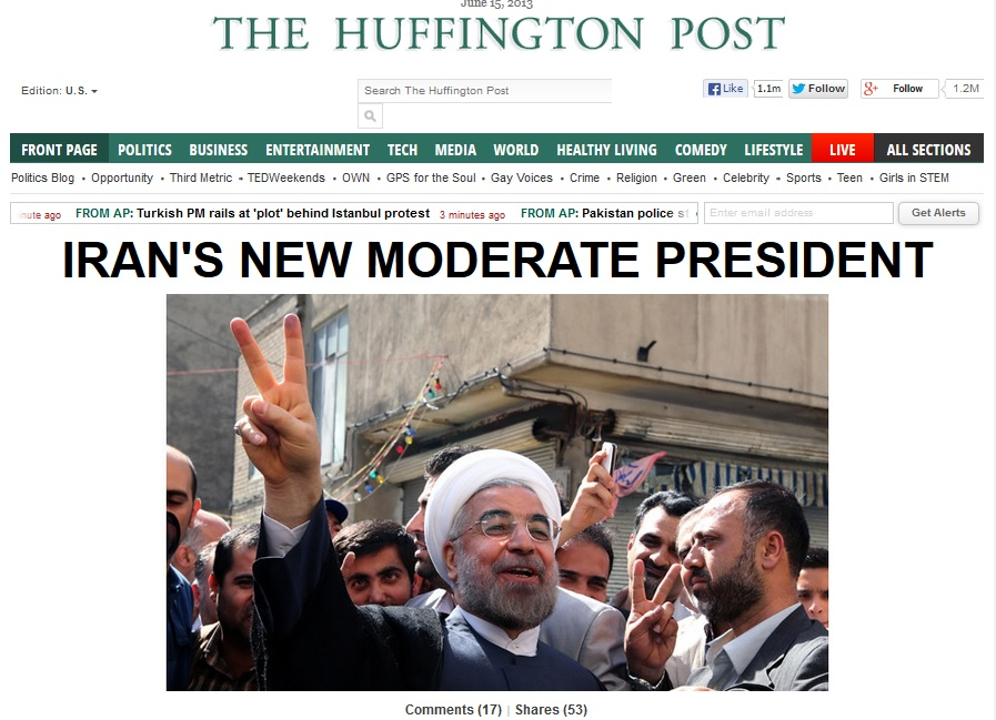 15June13 FPHL Irans new MODERATE president